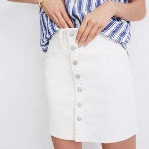 Madewell Stretch Denim Straight Mini Skirt 26